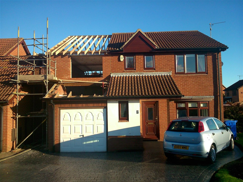 Over Garage Extension With 2 Storey Extension At Back Of House Also