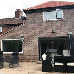 Single storey rear extension. Double storey side extension, whole house renovation, Gosforth